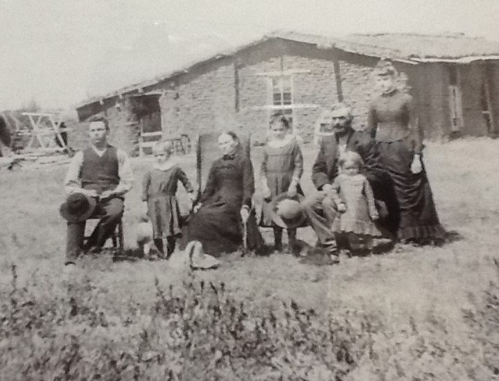 Grandparents and Sod House Bev Scott Author Mother's Family